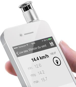 Skywatch Windoo 1 Wind-und Temperatur Messer für Android und iOS